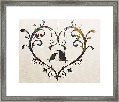 Let Me Count The Ways Framed Print by Dolores  Deal