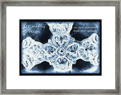 Let Mercy Reign With Lyrics Framed Print