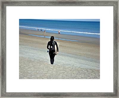 Let The Sea Set Me Free Framed Print