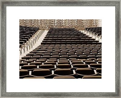 Let The Show Begin Framed Print by Sharon Spade - Kingsbury