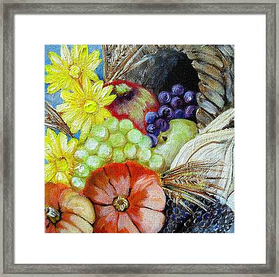 Let Us Give Thanks Framed Print by Melissa Torres