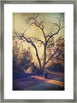 Let Us Sit Side By Side Framed Print by Laurie Search