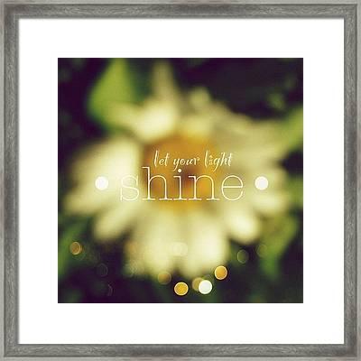 Let Your Light Shine.✨ Daisy Edit Framed Print