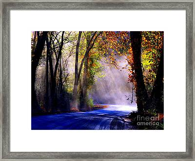 Let Your Light Shine Down On Me Framed Print by Carolyn Wright