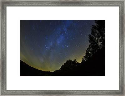 Letchworth Star Trails Framed Print by Rick Berk