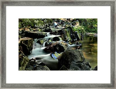 Letherby Falls Framed Print by Matthew Winn