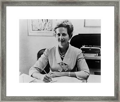 Letitia Baldrige, First Lady Jacqueline Framed Print