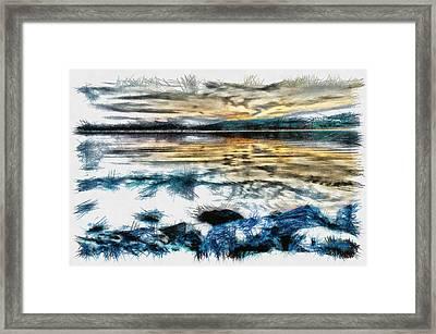 Letra - Pencil Framed Print