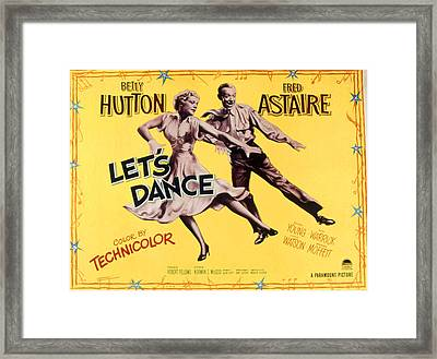 Lets Dance, Betty Hutton, Fred Astaire Framed Print