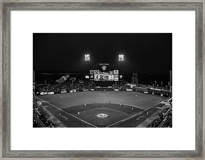 Lets Go Giants Bw Framed Print by Rick DeMartile