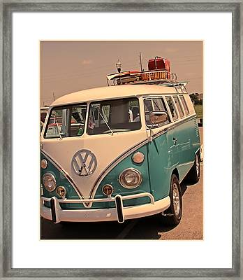 Let's Go Surf'in Framed Print by Tony Grider