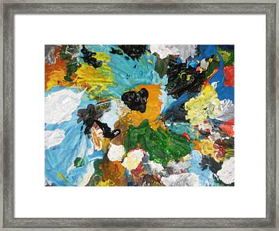 Lets Go Swirly Framed Print by Mudiama Kammoh