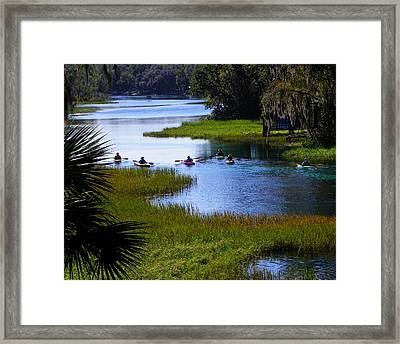 Let's Kayak Framed Print