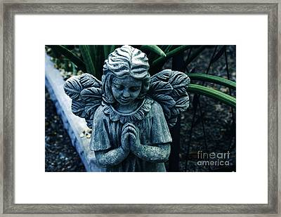 Lets Pray Framed Print by Susanne Van Hulst