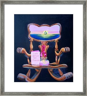 Framed Print featuring the painting Lets Retire This Disease by Susan Roberts