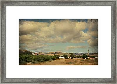 Let's Run Through The Orchard Framed Print