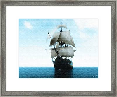 Let's Sail Away Framed Print by Tyler Martin