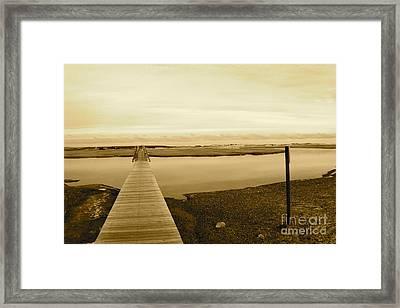 Lets Take A Walk Framed Print by Eric Chapman