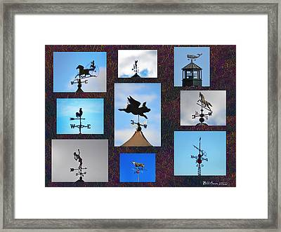Lets Talk About The Weather Framed Print