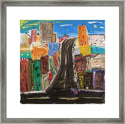 Let's Turn Up This Street Framed Print by Mary Carol Williams