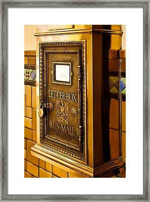 Framed Print featuring the photograph Letter Box by Lawrence Burry