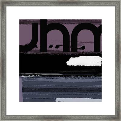 Letter Purple Framed Print