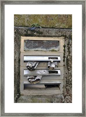 Letterbox With Old Newspapers Framed Print by Matthias Hauser