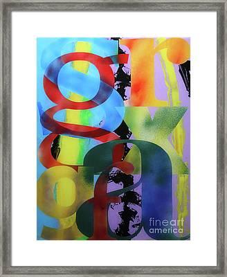 Letterforms 1 Framed Print by Mordecai Colodner