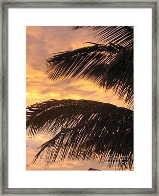 Lever Du Soleil - Ile De La Reunion Framed Print by Francoise Leandre