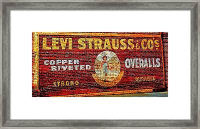 Levi Strauss Framed Print by Randall Weidner