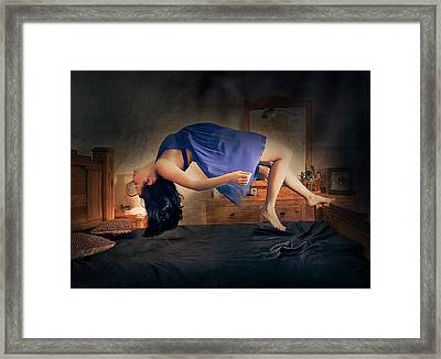 Framed Print featuring the glass art Levitation by Anna Rumiantseva