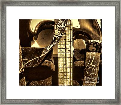 Levys Guitar I Framed Print by Chuck Kuhn