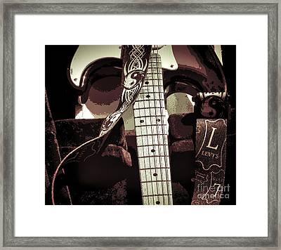 Levys Guitar IIi Framed Print by Chuck Kuhn