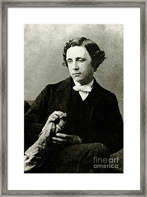 Lewis Carroll, English Author Framed Print by Photo Researchers
