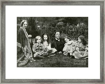 Lewis Carroll, Mrs. George Macdonald & Framed Print by Photo Researchers