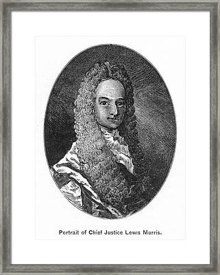 Lewis Morris (1671-1746) Framed Print