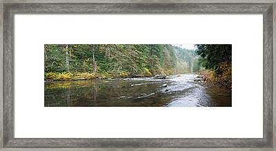 Lewis River Panorama Framed Print by Twenty Two North Photography