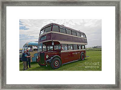 Leyland Titan Double Deck Bus Framed Print by David  Hollingworth