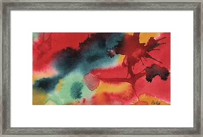 Framed Print featuring the painting L'forest by Alethea McKee