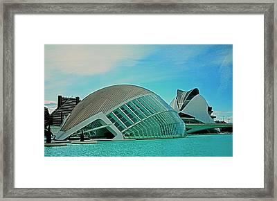 L'hemisferic - Valencia Framed Print by Juergen Weiss