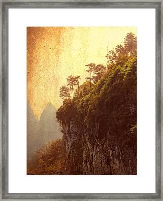 Li River Mountainside Framed Print