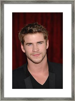 Liam Hemsworth At Arrivals For Thor Framed Print by Everett