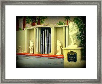 Liberace Residence Framed Print by Randall Weidner