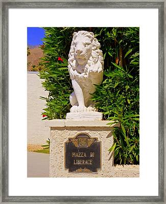 Liberace's Lion Framed Print by Randall Weidner
