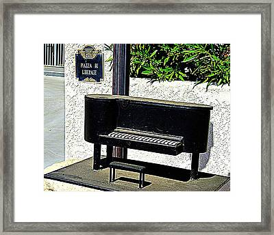 Liberace's Mailbox Framed Print by Randall Weidner