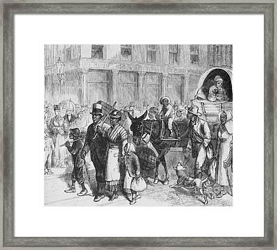 Liberated Slaves, 1861 Framed Print