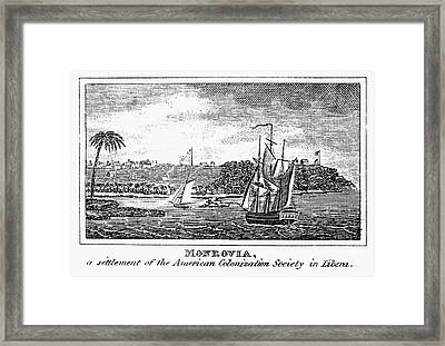 Liberia: Freed Slaves 1832 Framed Print