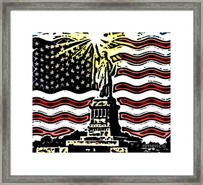 Liberty And Glory Framed Print