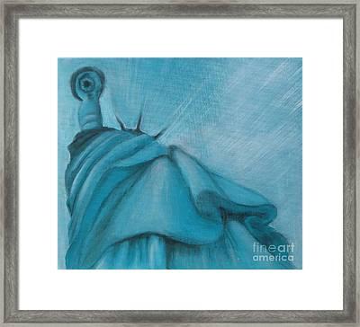 Framed Print featuring the painting Liberty by Annemeet Hasidi- van der Leij