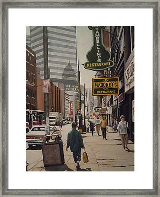 Liberty Avenue In The 80s Framed Print by James Guentner
